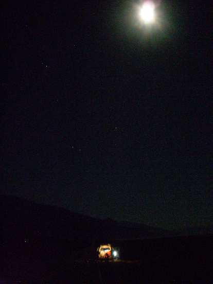 Full moon over our van.