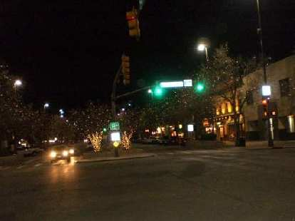 Old Town Fort Collins is always so nice around the holidays due to all the lights.
