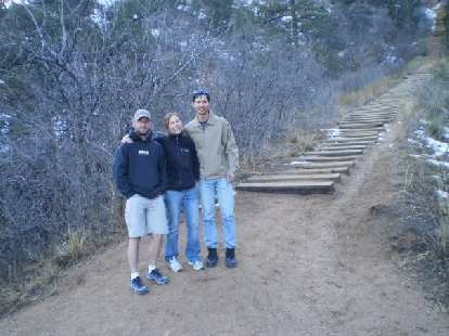 Jeremiah, Lisa and Felix Wong at the Incline.  One of these days I want to try to run up it.