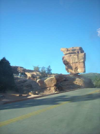 Balanced Rock at the Garden of the Gods in CO Springs.
