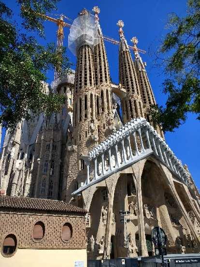 Gaudi's La Sagrada Familia continues to be under construction in Barcelona, Spain.