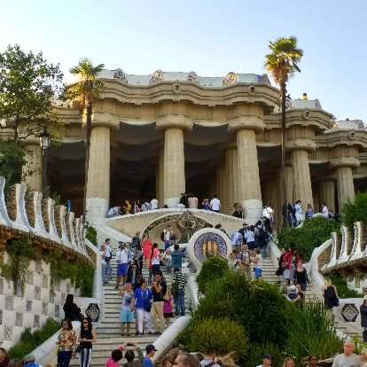 As of a year ago, you need to buy tickets to enter this part of Park Güell.