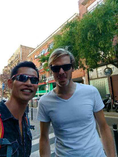 Felix Wong and Michael Wacker after having lunch in Barcelona.