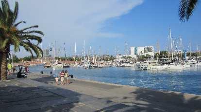 Harbor in Barcelona.