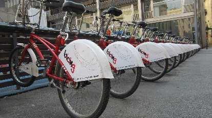 Barcelona's bicing city bikes.