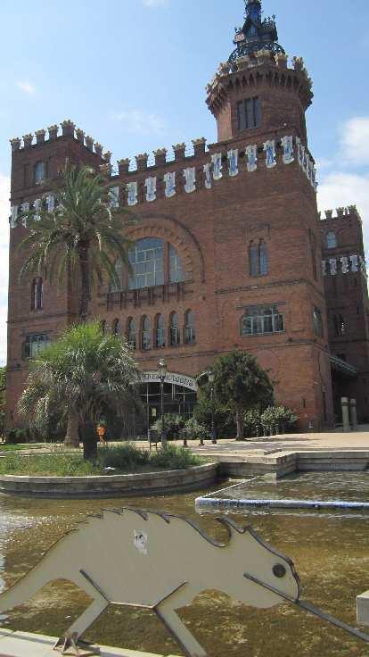 Building in La Ciutadella park.