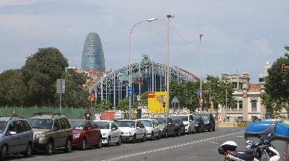 Torre Agbar, a 38-story phallic-looking skyscraper in Barcelona.