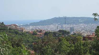 View of Barcelona from near Parc Creuta del Coll.