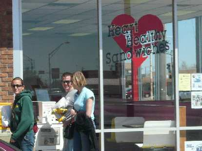 """Stopping off at Heart Healthy Sandwiches in Socorro (which means """"help""""), New Mexico."""