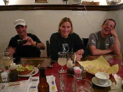 Later that night, we had dinner in Santa Fe at Maria's Mexican Restaurant.  Here's Eddie, Celeste, and Scott.