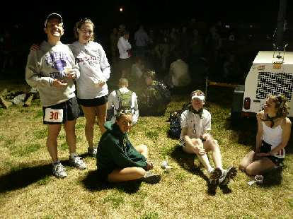 Here we are right before the race.  We stayed near the power generator because it was warmer there.