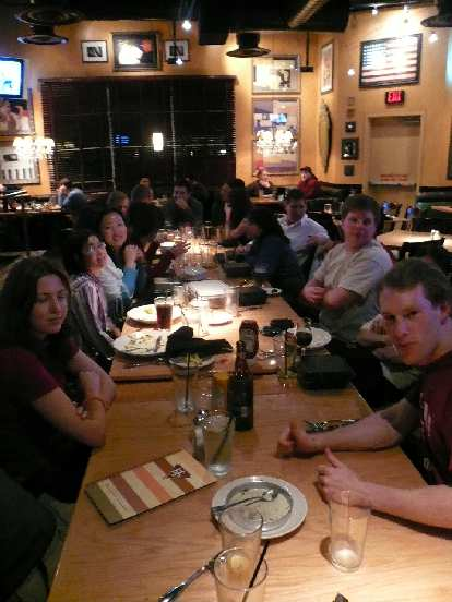 Our big group went to BJ's to celebrate Ronnie's 40th birthday.