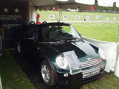 A lot of people wore Mini outfits (cardboard boxes that looked like Minis) during the race, and at Footstock, there were even a couple of real Minis on display.