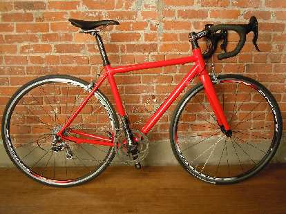 Christopher Fahey's Parlee Z5 which he special ordered in Ferrari Red paint.