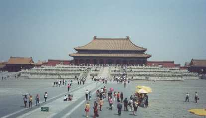 The Forbidden City, which was near Tiananmen Square, without any tanks.