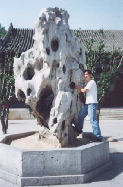 Even 9000 miles away from home at the Summer Palace, Felix Wong couldn't help but think about rock climbing!
