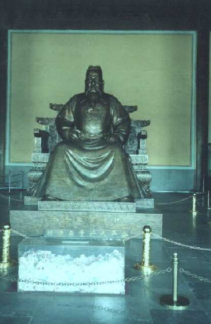 No, not the buddha, but rather a statue of an emperor at the Ming Tombs.  Must have been a Ming...