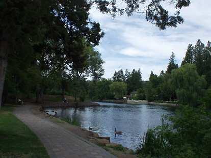 Drake Park along the Deschutes River.