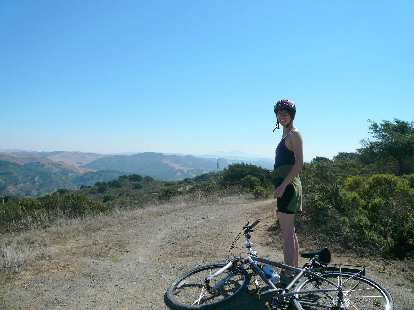 Sarah admiring the views to the east.  It was a very pleasant ride on a beautiful day with great company.