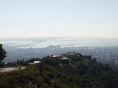 After Death Climb #5 (Claremont Ave.): View of the SF bay from Grizzly Peak.