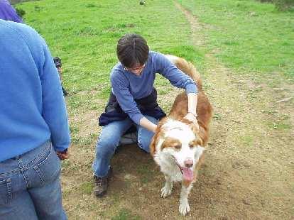 Sarah and a doggie