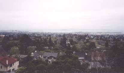 Nice view of the SF Bay and the residential areas of Berkeley.