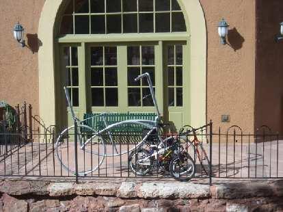 Bicycle rack in Manitou Springs, CO.