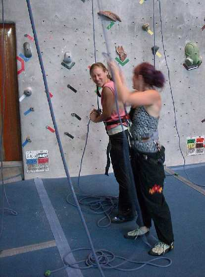 Rhea and Tanya at Inner Strength in Fort Collins.