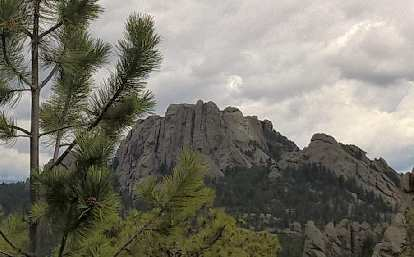 Shortly after starting Day 3 on the Centennial Trail, we could see the side of George Washington's head on Mount Rushmore.