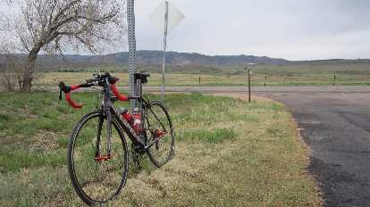 Mile 155: taking a break on Douglas County Rd. 105.
