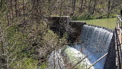 Waterfall at Blanchard Springs Recreational Area.