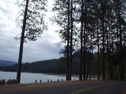 [Mile 91, 12:19 p.m.] Passing by Bass Lake.