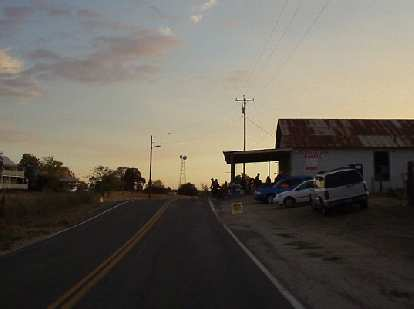 [Mile 154, 6:05 p.m.] Rest Stop #8, with only about 50 more minutes of daylight left.  Still 46 miles to go!
