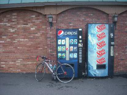 [Mile 664] I really could have used a Pepsi this morning while I was riding before any stores opened.  Unfortunately, I didn't have enough small change and the machines wouldn't accept my dollar bills, so no Pepsi for me.