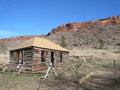 A log cabin from the late 1800s that will be restored next year.
