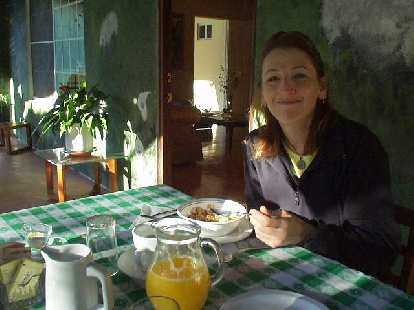 Tori and I had breakfast every day at the Bed & Breakfast.