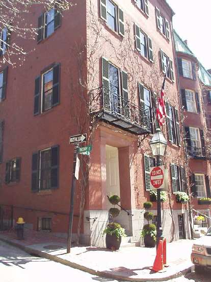 Theresa Heinz Kerry bought this home in Louisburg Square in Beacon Hill, and tried (obviously unsuccessfully) to get the fire hydrant removed since she kept getting so many parking tickets!
