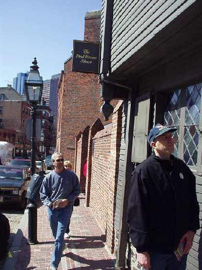 Russ in front of the Paul Revere House.