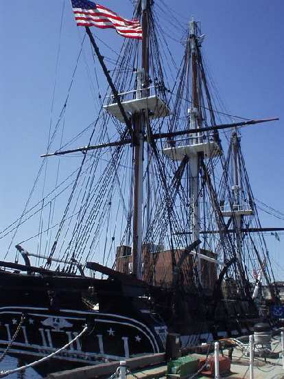 We waited for about an hour to be able to get a free tour of the USS Constitution, America's first and the world's oldest warship.  It is 42-0 in battle and even has some castings from Paul Revere's foundry company.