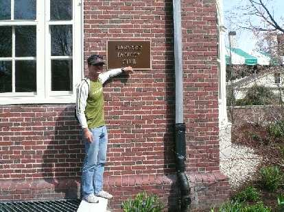 Felix Wong (being a west coast Stanford man) gives a thumbs down to the Harvard Faculty Club.