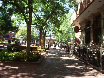 The Pearl Street Mall is the heart of Boulder and one of the most famous pedestrian malls in the U.S.  There is plenty of outdoor dining here.