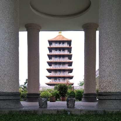 Pagoda at the Buddha Memorial Center in Taiwan.