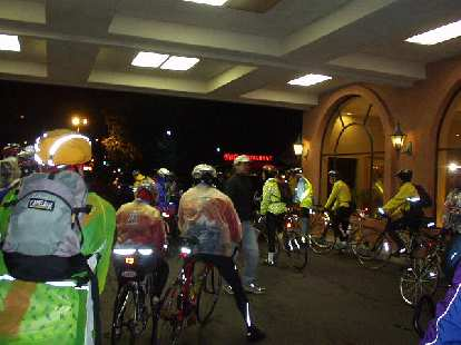 [Mile 0, 4:29 a.m.] At the Butterfield Double, a bunch of us opted for an early start on this very wet day.