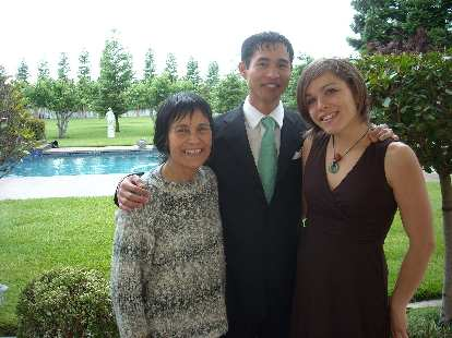My mom with Leah and me in Stockton.