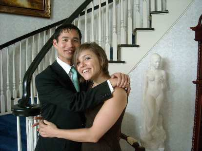 Me and Leah before heading over to Trang and Naoum's wedding.