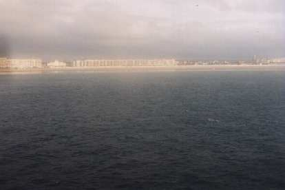 View of Calais from the ferry.