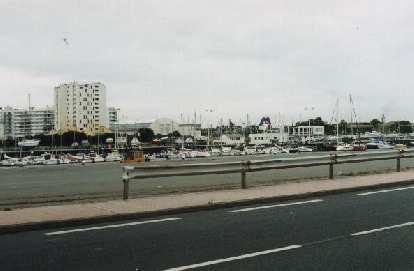 Port in Calais.