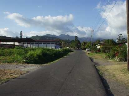 Boquete is surrounded by lush mountains on almost all sides.  This is the view of one of them.