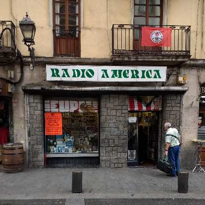On Day 4 in Bilbao, I stopped by this Radio America store to purchase a European power adapter (since I lost mine) for 2 euro.