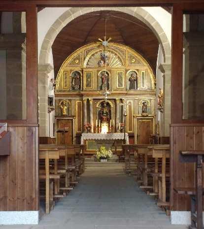 A church in Boente, Spain.